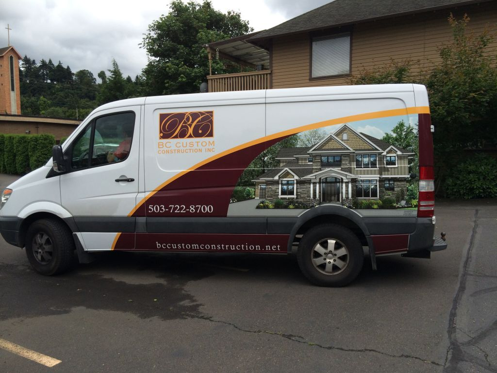 BC Homes Sprinter van by Cascade Wraps 1