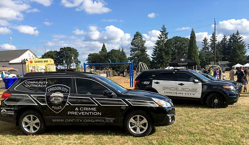 Oregon City Police Fleet Vehicle Graphics by Cascade Wraps