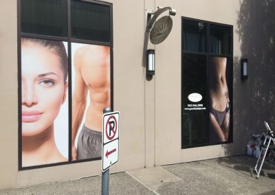 Pearl Medspa PDX Window Sign by The Sign Guy 5