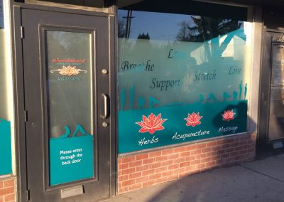 Woodstock Wellness Window Graphics by The Sign Guy 3