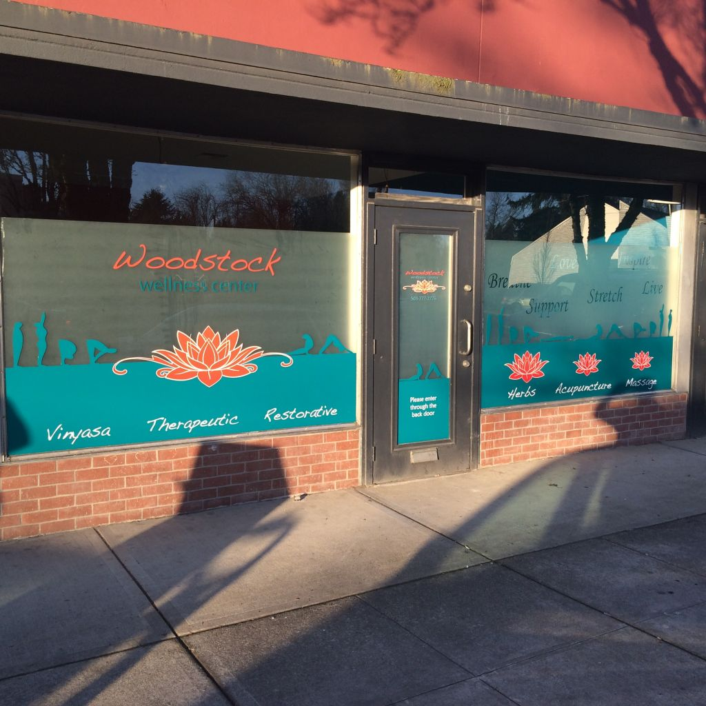 Woodstock Wellness Window Graphics by The Sign Guy 4