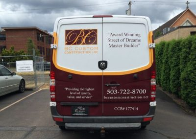 BC Homes Sprinter van by Cascade Wraps 2