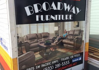 Broadway Furniture truck by Cascade Wraps 1