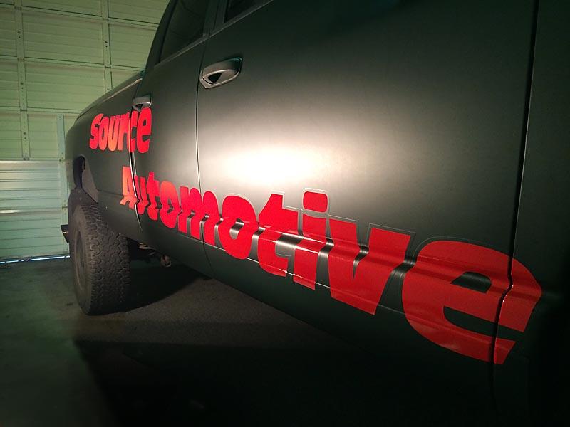 Cascade Wrap completes a reflective vinyl wrap for Source Automotive