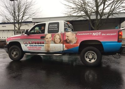 big truck wrap for fleet graphics