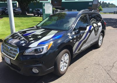 Oregon City Police Subaru wrap