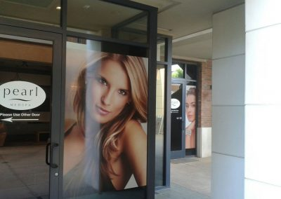Pearl Medspa AZ Window Sign by The Sign Guy 2