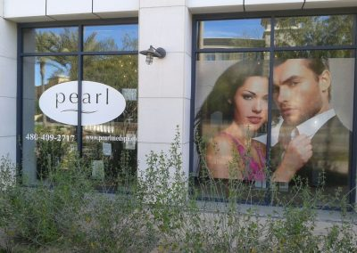 Pearl Medspa AZ Window Sign by The Sign Guy 3