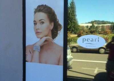 Pearl Medspa PDX Window Sign by The Sign Guy 2