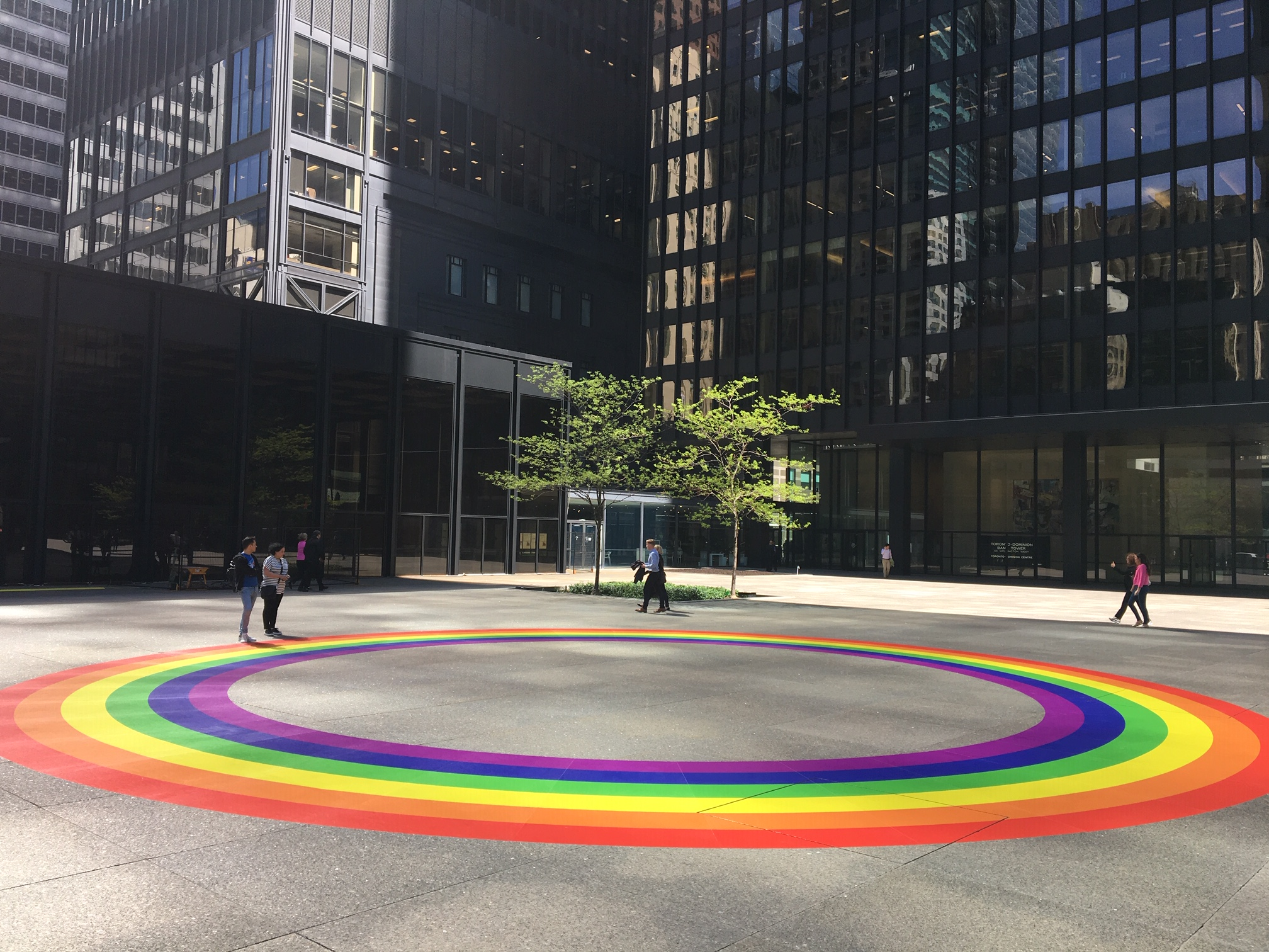 TD Bank Rainbow Circle Outdoor Floor Graphic