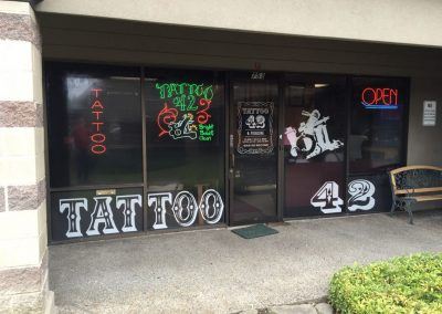 Tattoo 42 Window Graphics by The Sign Guy 2