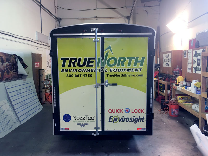 True North trailer wrap delivered creativity and flexibility for their business