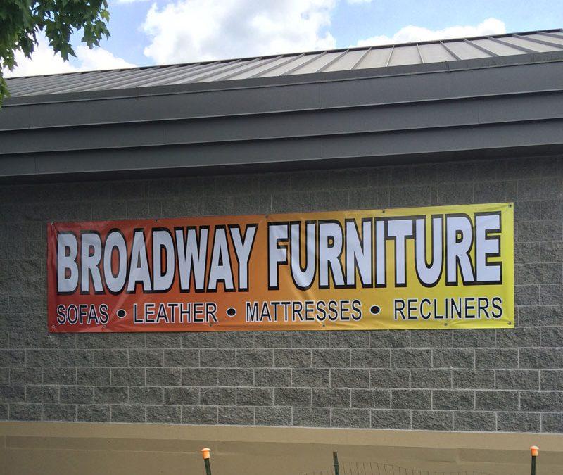 Vinyl Banner for Broadway Furniture
