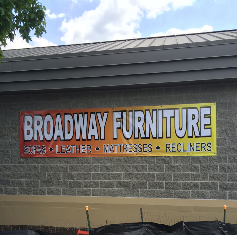 Vinyl Banner for Broadway Furniture
