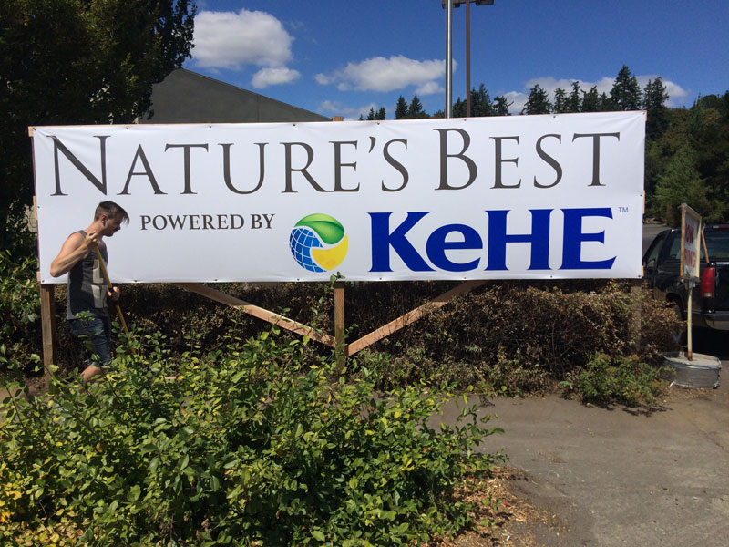 Vinyl Banner for Natures Best