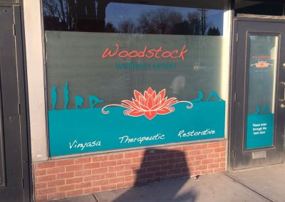 Woodstock Wellness Window Graphics by The Sign Guy 2